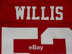 Patrick Willis San Francisco 49ers Red Authentic Nike Elite Jersey sz 40 Mens