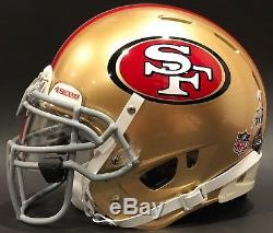 Patrick Willis San Francisco 49ers SB XLVII Rawlings Quantum Game Style Helmet L