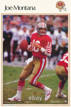 Poster NFL Football Joe Montana San Francisco 49'ers -free Ship #4234 Rc12 F