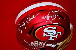 RARE! DWIGHT CLARK 49ers signed full size blaze helmet beckett COA