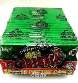 RARE OFFERING 1986 Topps Football Unopened GROCERY RACK Box BBCE Jerry Rice RC
