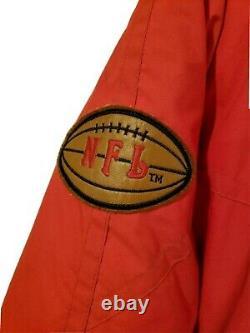 RARE/VINTAGE San Francisco SF 49ers NFL TRIPLE F. A. T. Goose Mens Jacket (LARGE)