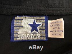 RARE Vintage SAN FRANCISCO 49ERS Black Script STARTER Jersey Size Large 44 L