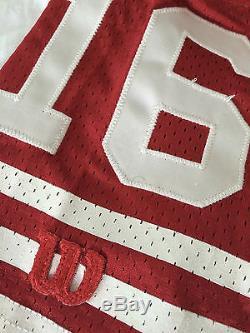Rare 1980's Joe Montana San Francisco 49er Official Field Jersey made by Wilson