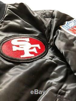 Rare Vintage 90s NFL San Francisco 49ers Starter Reversible Satin Jacket