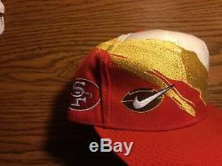 Rare Vintage San Francisco 49ers Nike Splash Snapback Hat Cap Logo Athletic