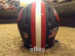 Rawlings 49ers Helmet Black Matte Full Size Edition