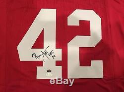 Ronnie Lott Autographed San Francisco 49ers Custom Red Jersey HOF 00 JSA & GTSM