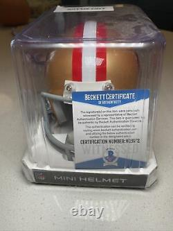 Ronnie Lott Signed San Francisco 49ers Mini Helmet HOF 00 Beckett GTSM