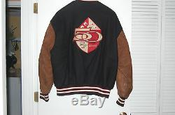 San Francisco 49er 5o Year Anniversary Letterman Jacket Men XL From Reebok