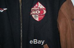 San Francisco 49er 5o Year Anniversary Letterman Jacket Men XL From Reebok