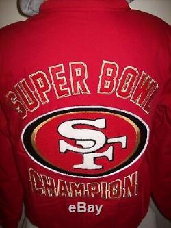 SAN FRANCISCO 49ERS 5 TIME SUPER BOWL CHAMPIONSHIP Cotton Jacket M L XL