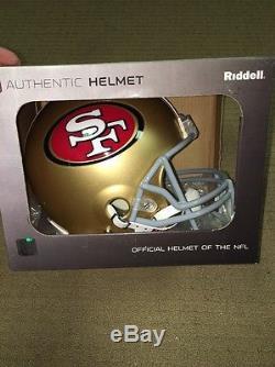 SAN FRANCISCO 49ERS RIDDELL FULL SIZE AUTHENTIC PRO LINE FOOTBALL HELMET NEW