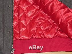 San Francisco 49ers Super Bowl Champions Wool Leather Varsity Jacket Mens 2xl