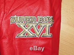 San Francisco 49ers Super Bowl Champions Wool Leather Varsity Jacket Mens XL