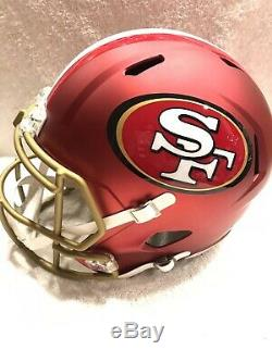 SAN FRANCISCO 49ERS unsigned FULL SIZE RIDDELL BLAZE ALTERNATE HELMET SOLD OUT