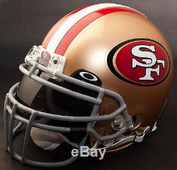 SAN FRANCISCO 49ers NFL Authentic GAMEDAY Football Helmet with OAKLEY Eye Shield