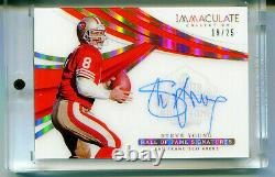 STEVE YOUNG 2018 Panini Immaculate Collection Hall of Fame Signatures Auto 19/25