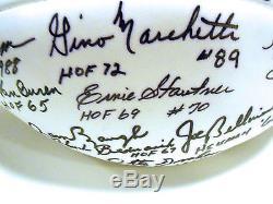 Sammy Baugh Joe Greene Deacon Jones +28 HOFers Signed Autograph Football Ball