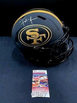 San Francisco 49'ers Eclipse Frank Gore Signed Full Size Helmet Jsa Coa Hof