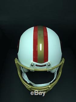 San Francisco 49er Custom Matte White Large Authentic Helmet