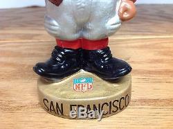 San Francisco 49ers 1962 BLACK PLAYER Toes Up Bobblehead Nodder