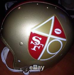 San Francisco 49ers 1965 Logo Vintage Wilson Football Men's Helmet(7 1/4) OLD