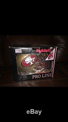 San Francisco 49ers 1996 To 2008 Football Helmet Riddell Pro Line Authentic NFL