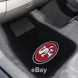 San Francisco 49ers 2 Piece Embroidered Car Auto Floor Mats