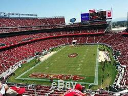 San Francisco 49ers 2016 Season Tickets Section 301 Row 4, Number of Tickets 2