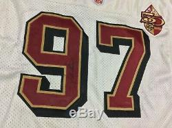 San Francisco 49ers 50th Bryant Young #97 Football-NFL Wilson Jersey Size48