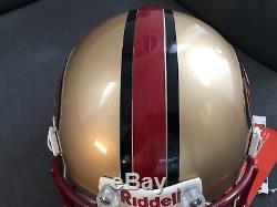 San Francisco 49ers Authentic Helmet Full Size VSR4 Riddell