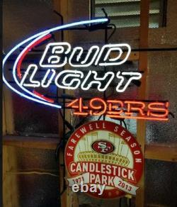 San Francisco 49ers Candlestick Park Neon Light Sign 32x24 Beer Bar Decor