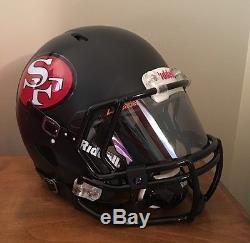 San Francisco 49ers Custom Concept Full Size Riddell Revo Speed Football Helmet