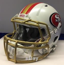 San Francisco 49ers Full Size Riddell Speed Custom Football Helmet White Pearl