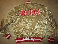 San Francisco 49ers GOLD Starter NFL Jacket LG L vintage