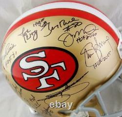 San Francisco 49ers HOFers Signed F/S 64-95 TB Helmet- Multi Holo Auth Black