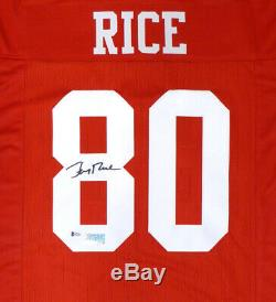 San Francisco 49ers Jerry Rice Autographed Signed Red Jersey Beckett 130023