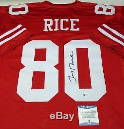 San Francisco 49ers Jerry Rice Signed Custom Jersey Jsa Coa