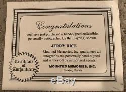 San Francisco 49ers Jerry Rice Signed Full Size Proline Helmet. MM