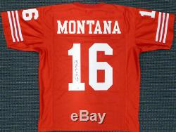 San Francisco 49ers Joe Montana Autographed Signed Red Jersey Tristar 128889