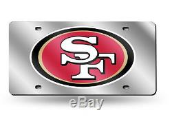 San Francisco 49ers Mirrored Laser Cut License Plate Laser Tag