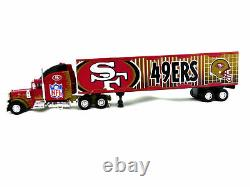 San Francisco 49ers NFL 180 DIECAST COLLECTABLE TRUCK -TRACTOR TRAILER TOY