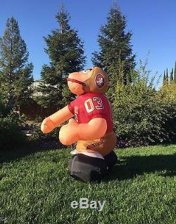 San Francisco 49ers NFL Inflatable Yard Airblown Football Player 7' Rare