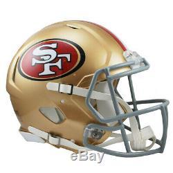 San Francisco 49ers Riddell NFL Full Size Speed Replica Football Helmet