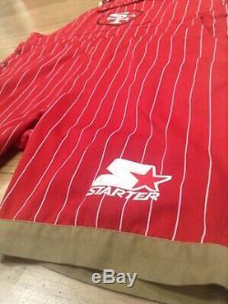 San Francisco 49ers Starter Overalls Pinstripe Size XL Rare Bay Area Sports