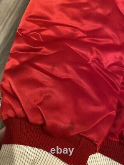 San Francisco 49ers Vintage Starter Jacket Size L Mens Red Satin Gold
