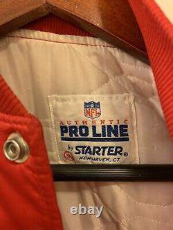 San Francisco 49ers Vintage Starter Jacket Size XL Mens Red Satin Gold