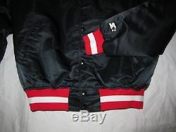 San Francisco 49ers White Starter Nylon/Satin Jacket Large 80's Rare Vintage