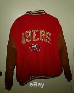 San Francisco 49ers Wool Letterman Style Jacket LOGO ATHLETIC Vintage XL